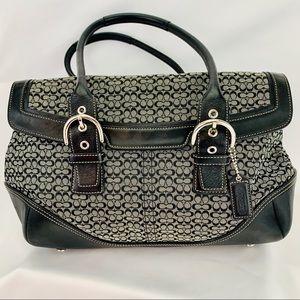 COACH Soho Satchel Shoulder large black gray bag